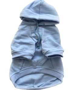 Light Blue Dog Hoodie Front View