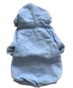 Light Blue Dog Hoodie Back View