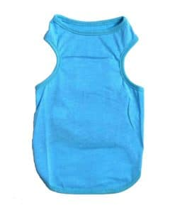 Plain Blue Dog Tank Top
