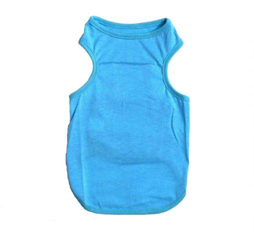 Plain Blue Dog Tank Top