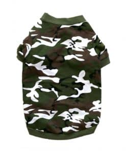 Green Camo Dog Shirt Back View