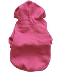 Hot Pink Dog Hoodie Back View