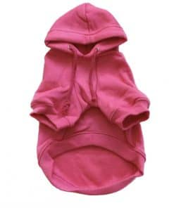 Hot Pink Dog Hoodie Front View