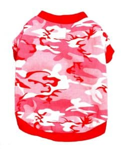 Pink Camo Dog Shirt Back View