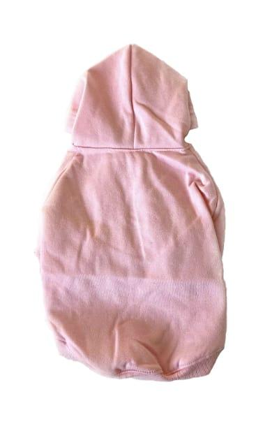 Pink Dog Hoodie Back View