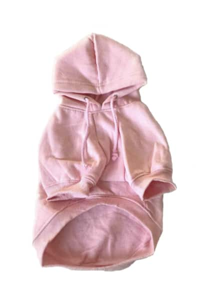 Pink Dog Hoodie Front View