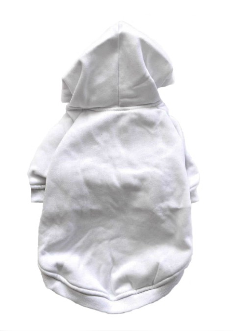 White Dog Hoodie Back View
