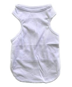 Plain White Dog Tank Top