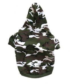 Green Camo Dog Hoodie Back View