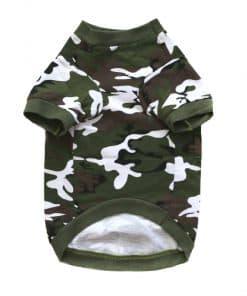 Green Camo Dog Shirt Front View