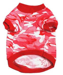 Pink Camo Dog Shirt Front View