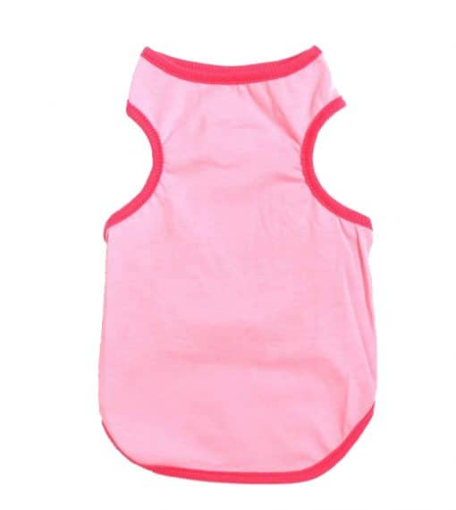 Plain Pink Dog Tank Top