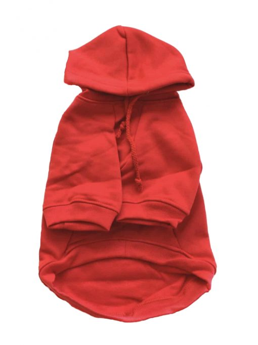 Red Dog Hoodie Front View