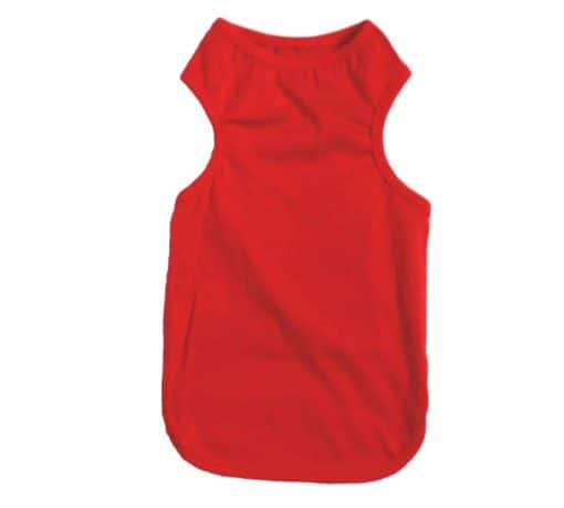 Plain Red Dog Tank Top