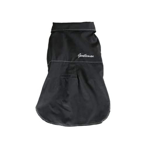 Black Gentleman Dog Button-Up Shirt Back View