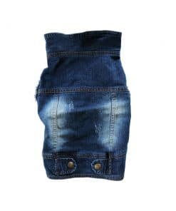 Distressed Denim Vest for Dogs Back View