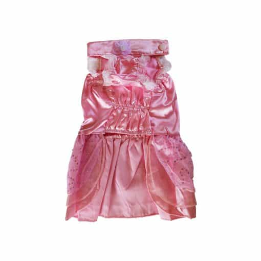 Pink Bridesmaid Dress for Dogs Front View