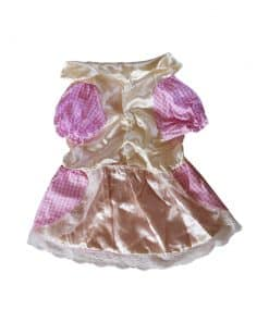 Pink Checkered Dress for Dogs Front View
