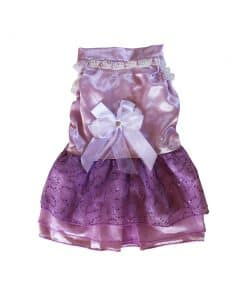 Purple Bridesmaid Dress for Dogs Back View