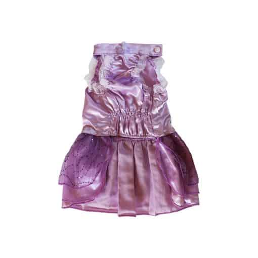 Purple Bridesmaid Dress for Dogs Front View