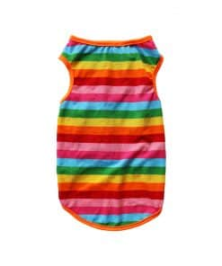 Rainbow Tank Top for Dogs Back View