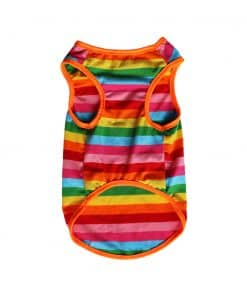 Rainbow Tank Top for Dogs Front View
