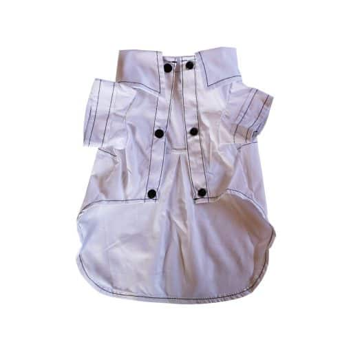 White Gentleman Button-Up Shirt for Dogs Front View